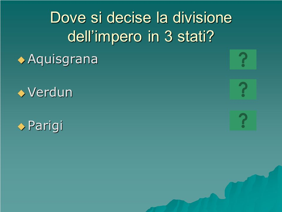 Dove si decise la divisione dell'impero in 3 stati