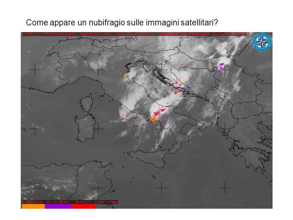 Come appare un nubifragio sulle immagini satellitari