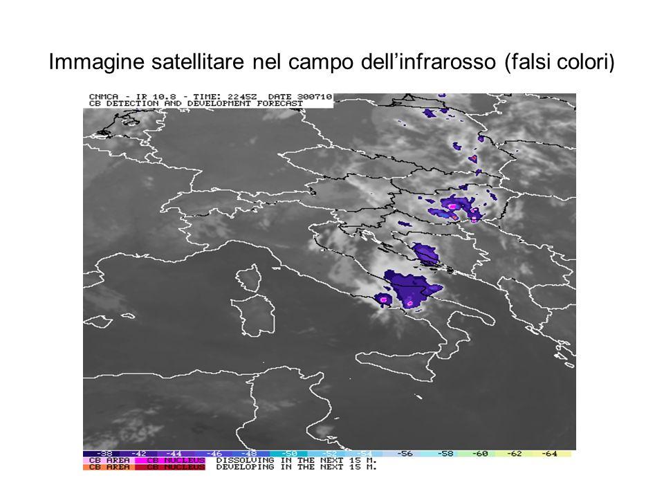 Immagine satellitare nel campo dell'infrarosso (falsi colori)