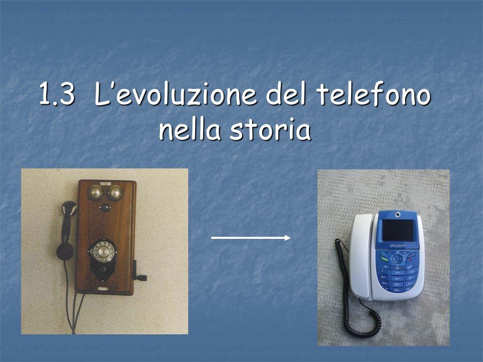 1.3 L'evoluzione del telefono nella storia