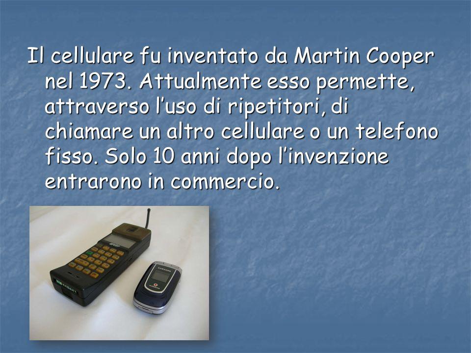 Il cellulare fu inventato da Martin Cooper nel 1973