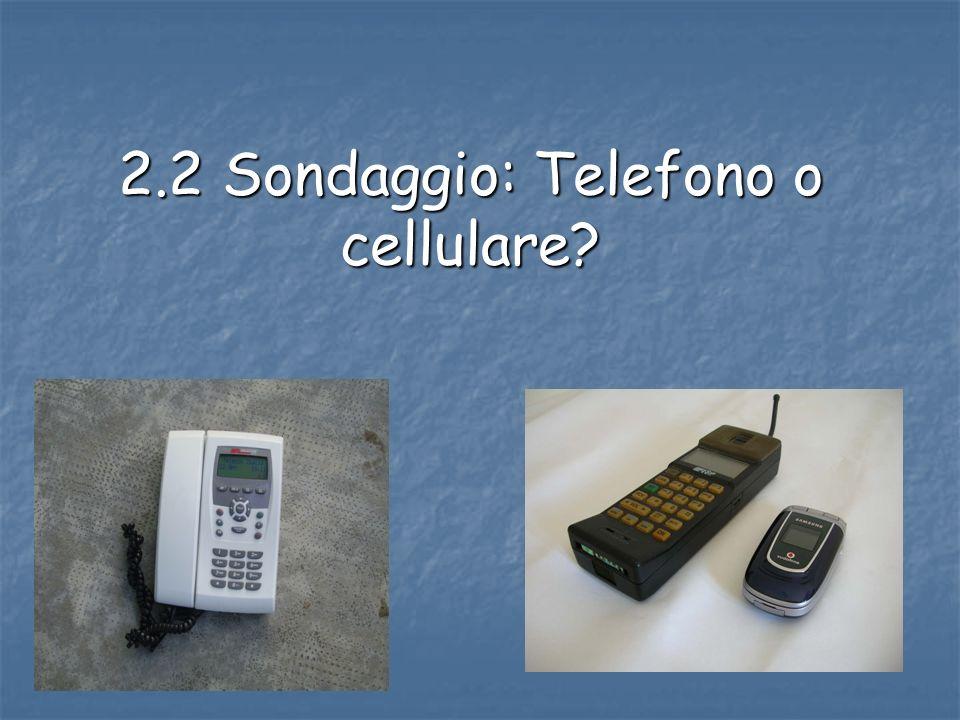 2.2 Sondaggio: Telefono o cellulare