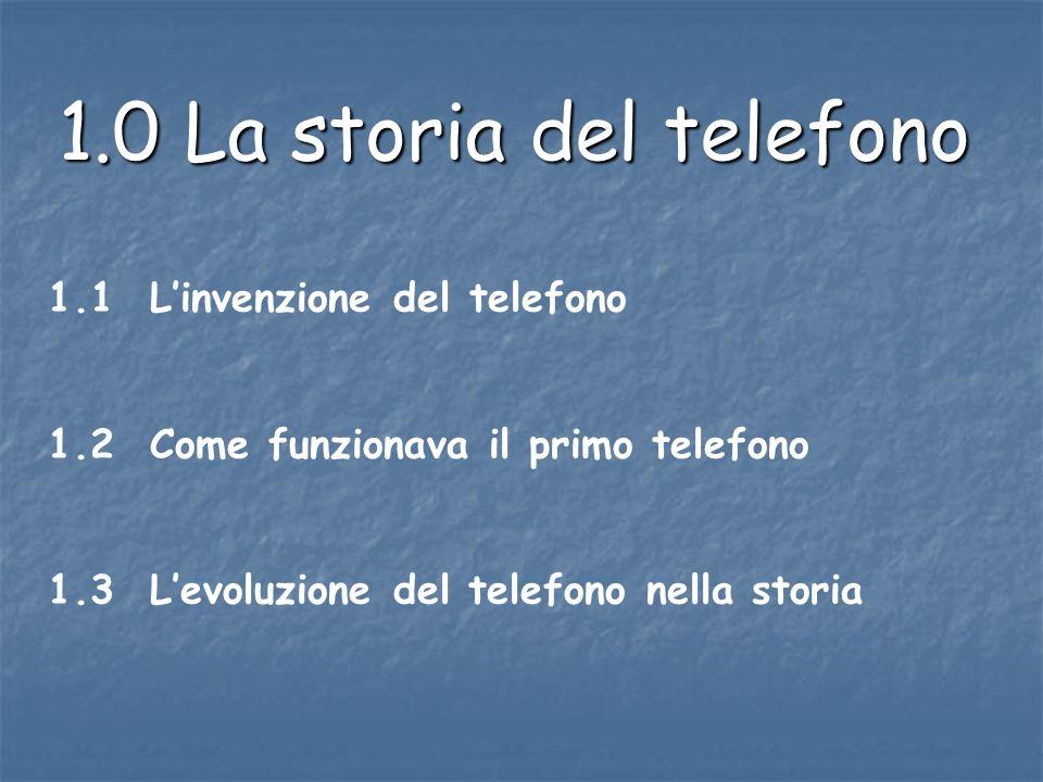 1.0 La storia del telefono 1.1 L'invenzione del telefono