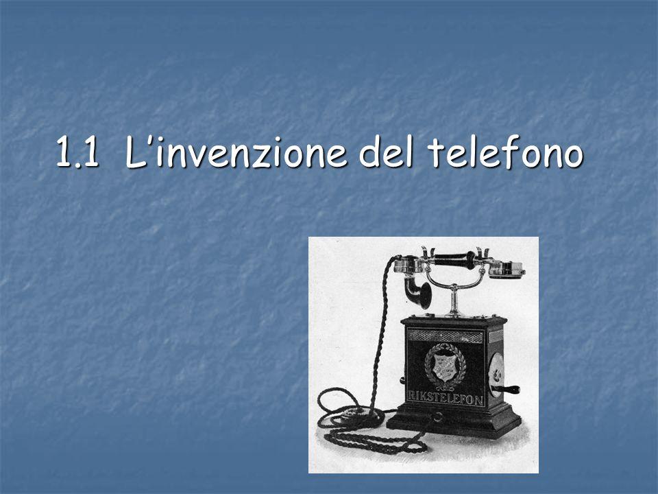 1.1 L'invenzione del telefono