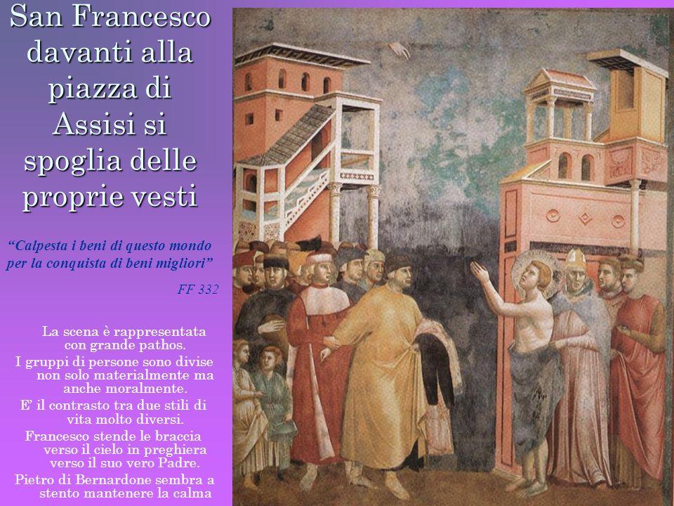 San Francesco davanti alla piazza di Assisi si spoglia delle proprie vesti