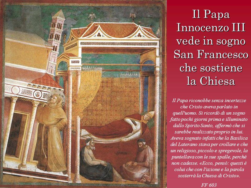 Il Papa Innocenzo III vede in sogno San Francesco che sostiene la Chiesa