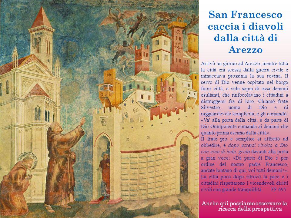 San Francesco caccia i diavoli dalla città di Arezzo