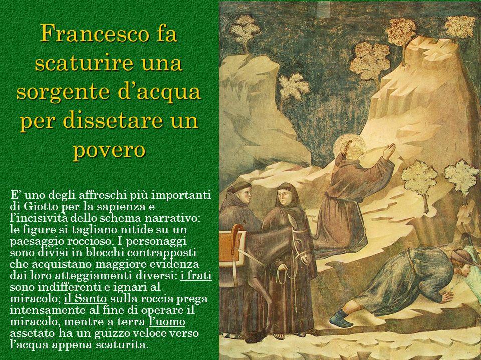 Francesco fa scaturire una sorgente d'acqua per dissetare un povero