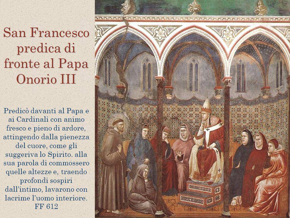 San Francesco predica di fronte al Papa Onorio III