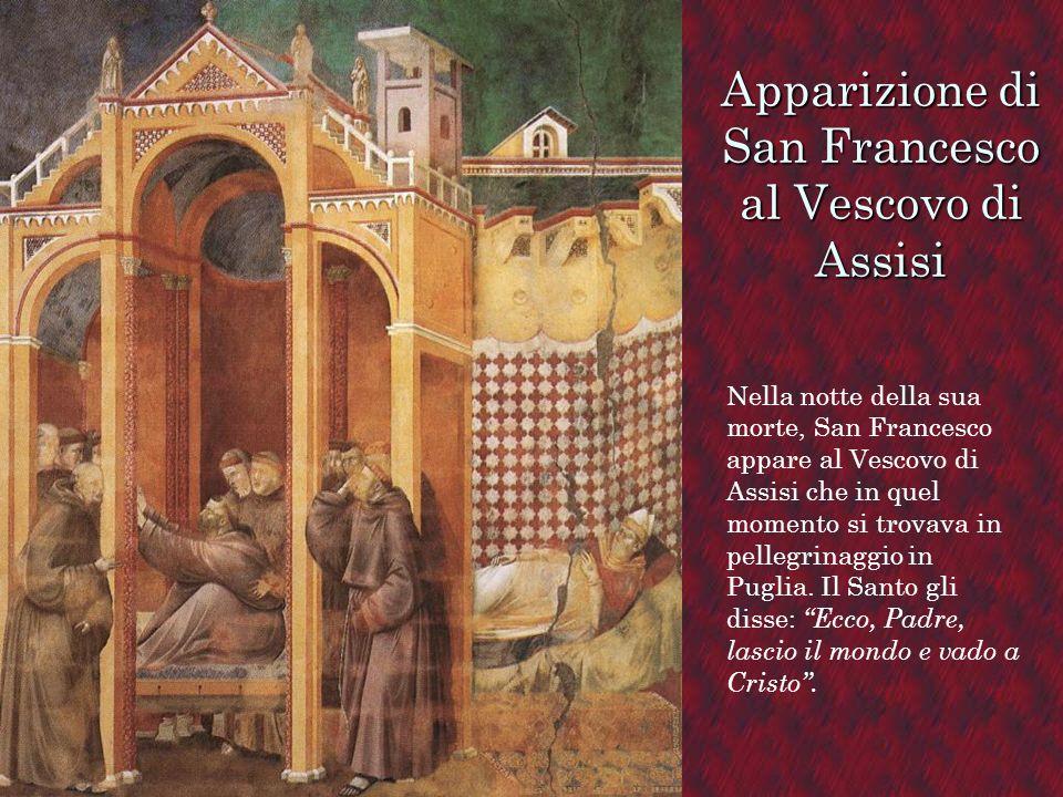 Apparizione di San Francesco al Vescovo di Assisi