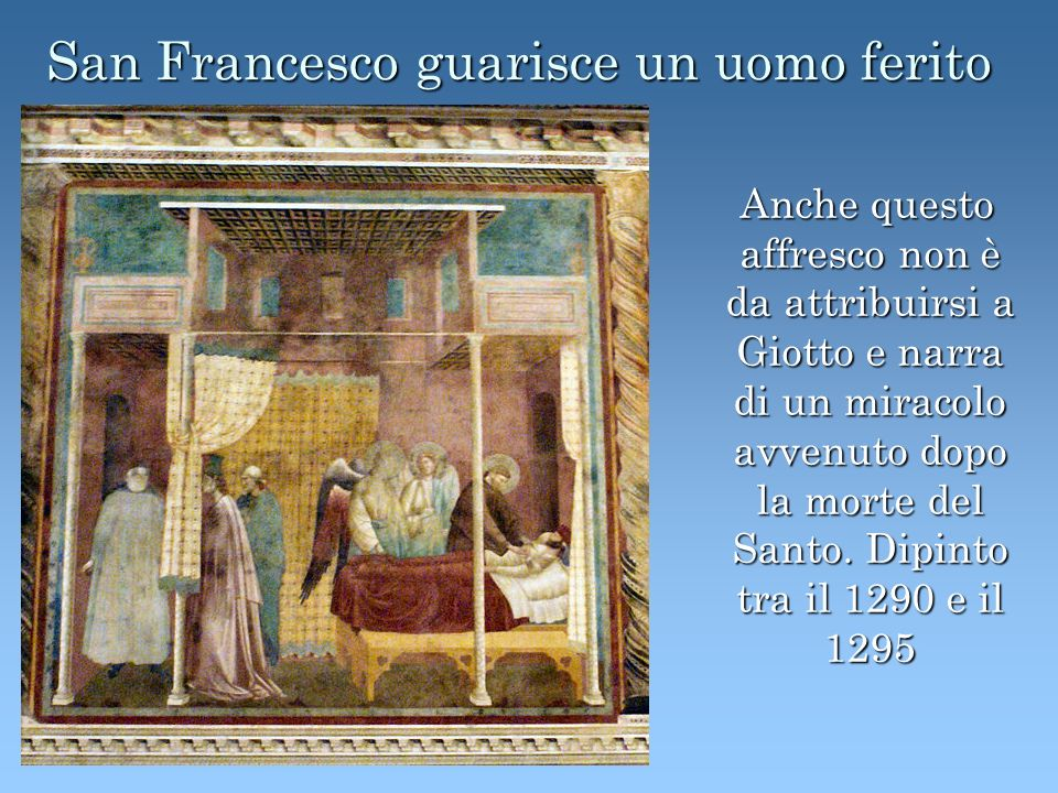 San Francesco guarisce un uomo ferito