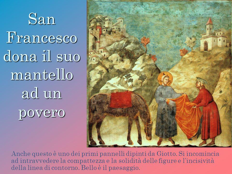 San Francesco dona il suo mantello ad un povero
