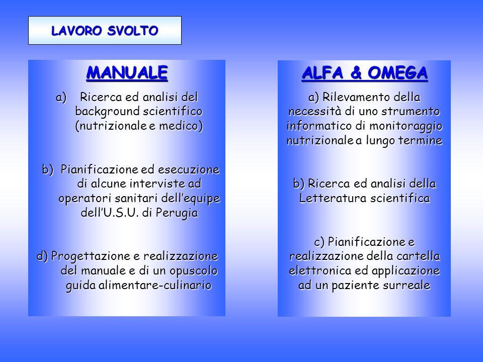 MANUALE ALFA & OMEGA LAVORO SVOLTO