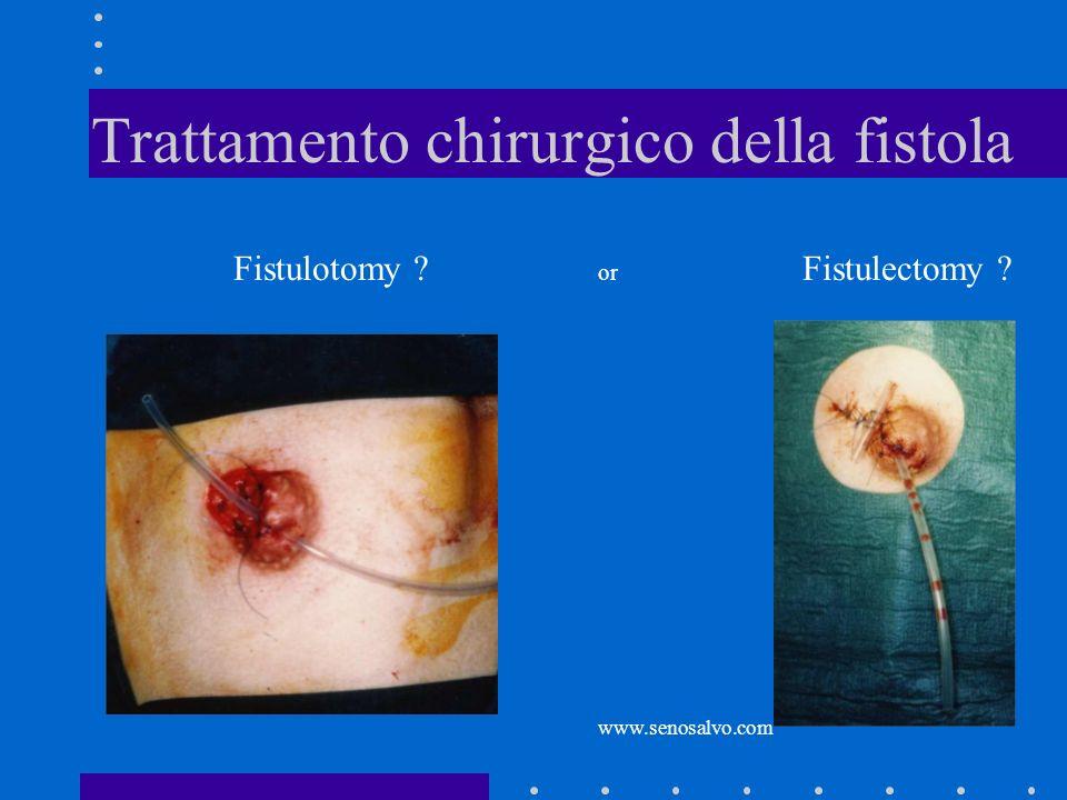 Trattamento chirurgico della fistola