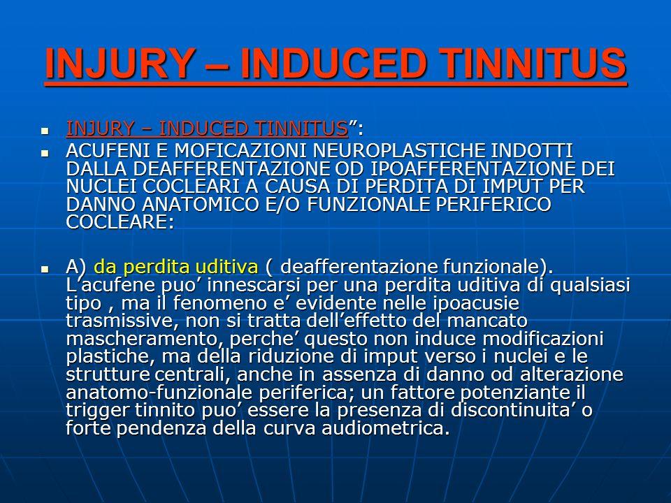 INJURY – INDUCED TINNITUS