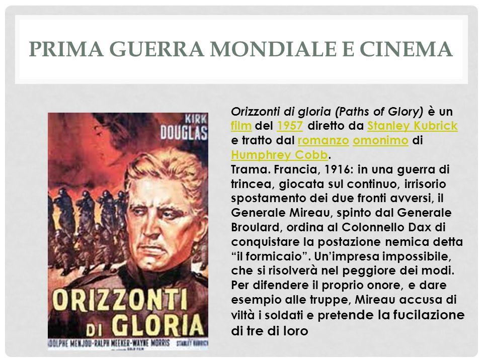 Prima guerra mondiale e cinema