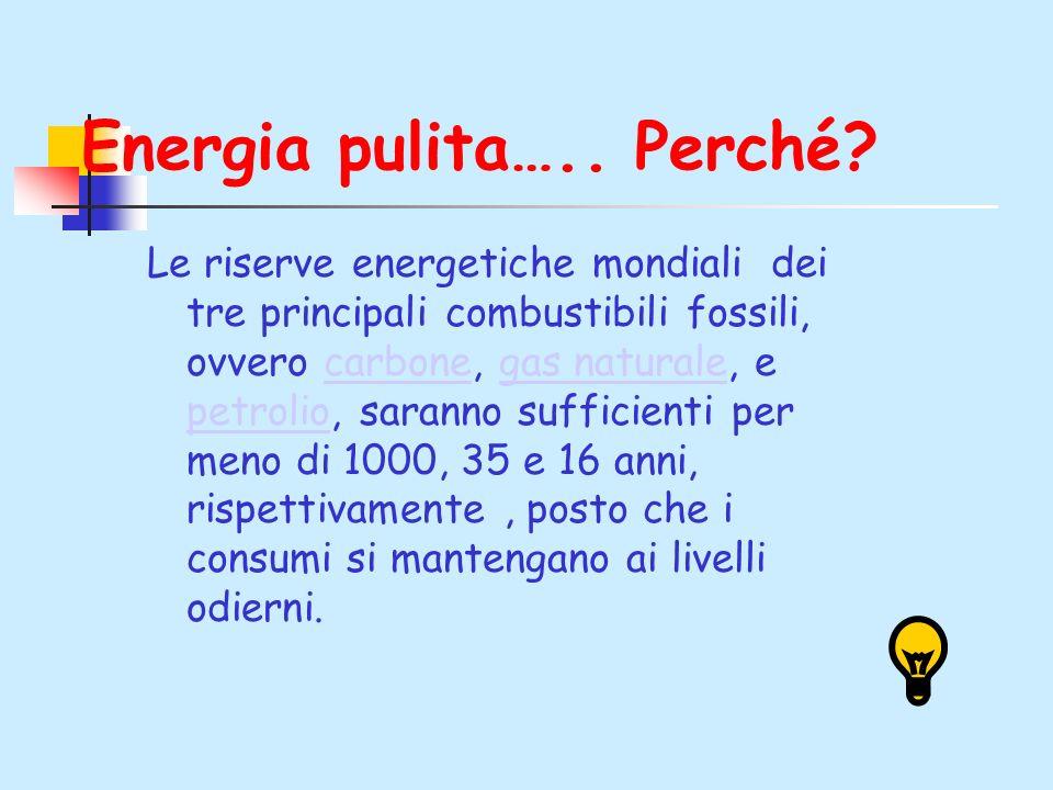 Energia pulita….. Perché