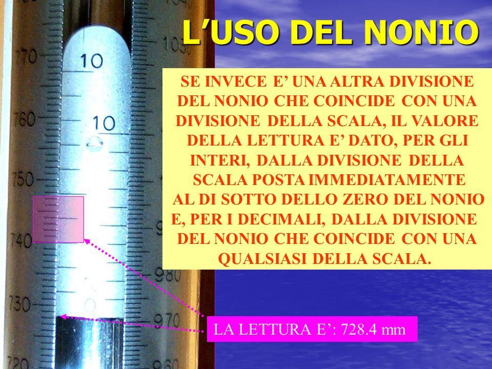 L'USO DEL NONIO SE INVECE E' UNA ALTRA DIVISIONE