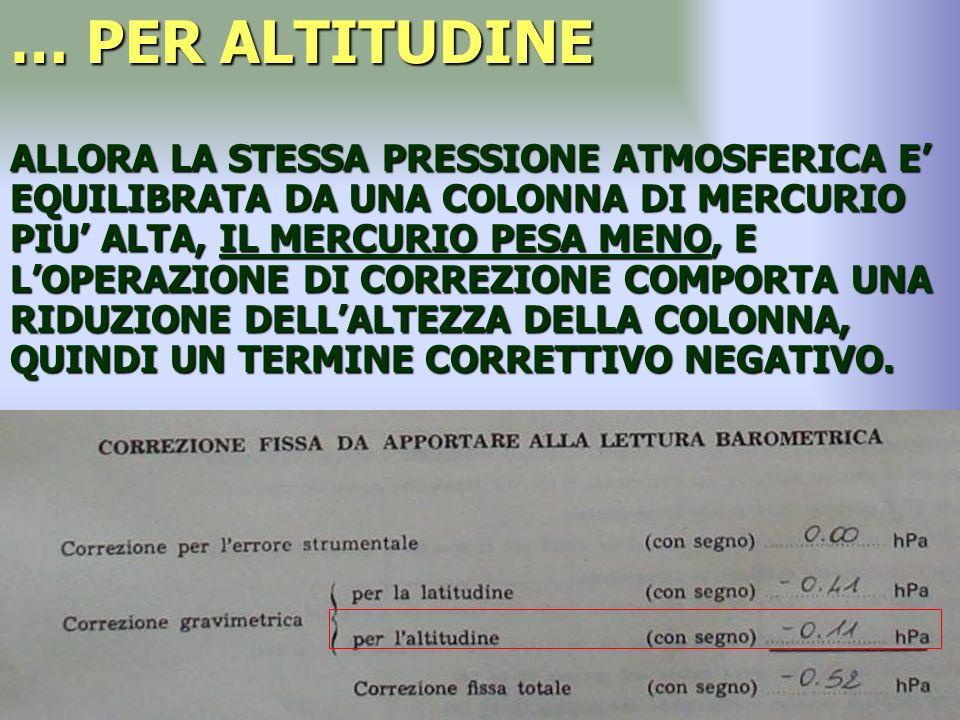 … PER ALTITUDINE