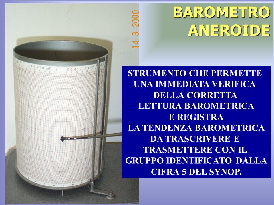 BAROMETRO ANEROIDE STRUMENTO CHE PERMETTE UNA IMMEDIATA VERIFICA