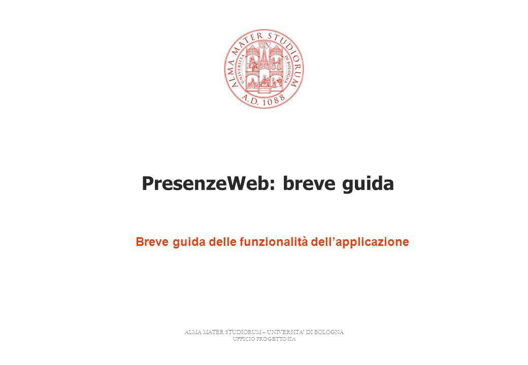 PresenzeWeb: breve guida