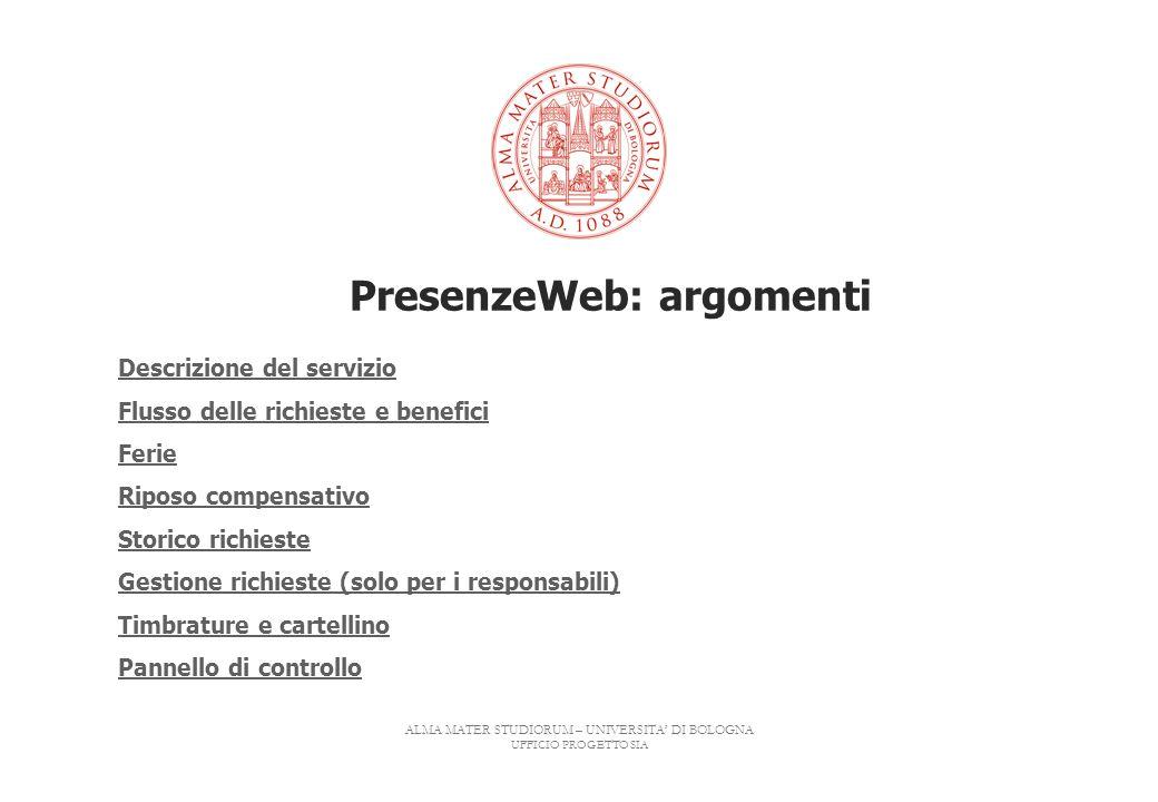 PresenzeWeb: argomenti