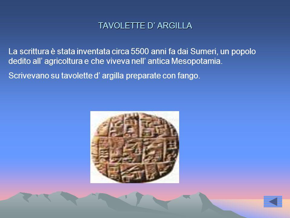 TAVOLETTE D' ARGILLA