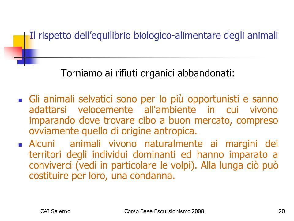Il rispetto dell'equilibrio biologico-alimentare degli animali