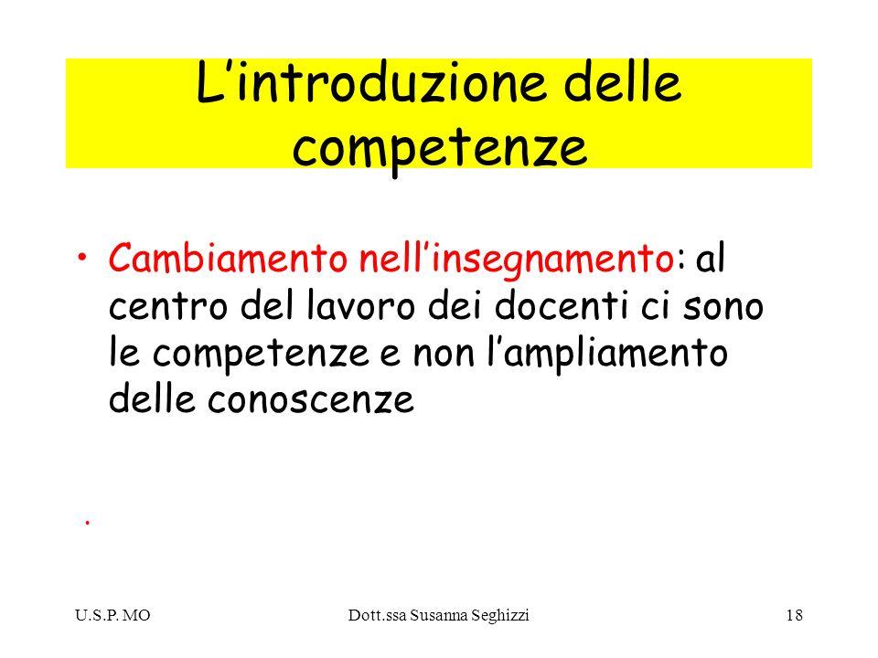 L'introduzione delle competenze