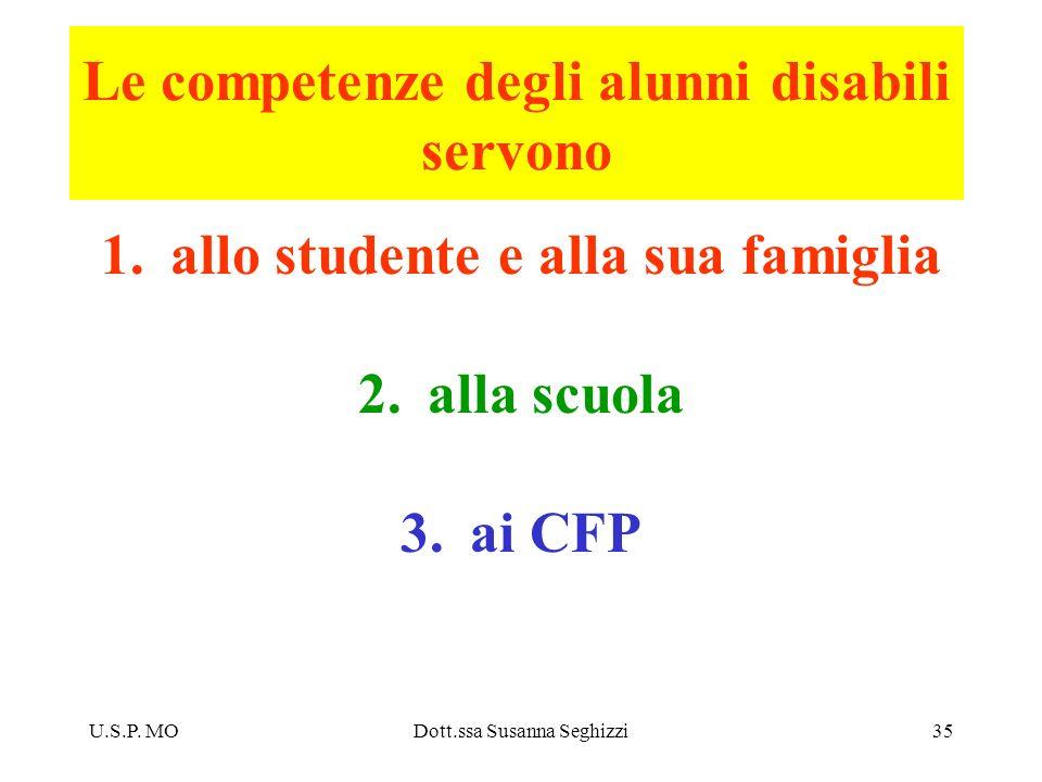 Le competenze degli alunni disabili servono