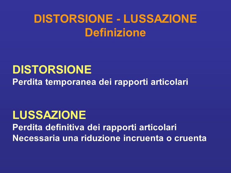 DISTORSIONE - LUSSAZIONE