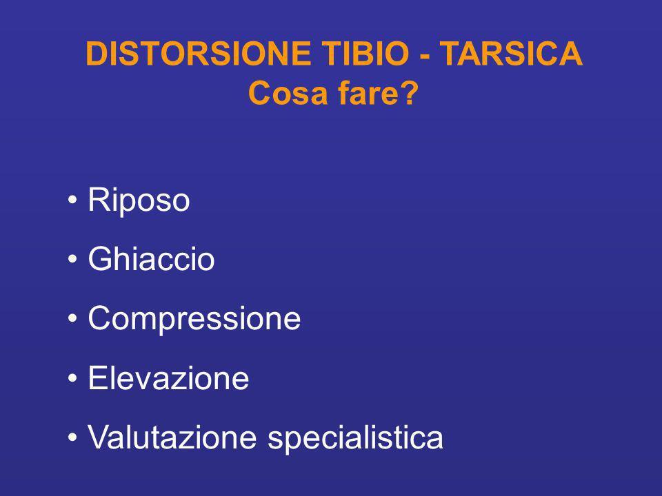 DISTORSIONE TIBIO - TARSICA