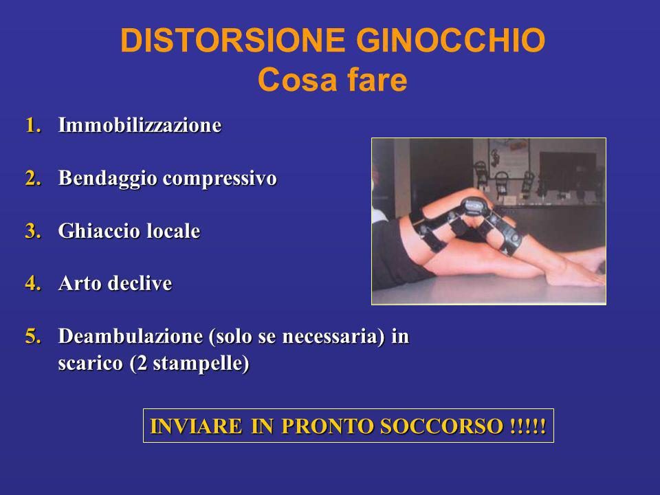 DISTORSIONE GINOCCHIO