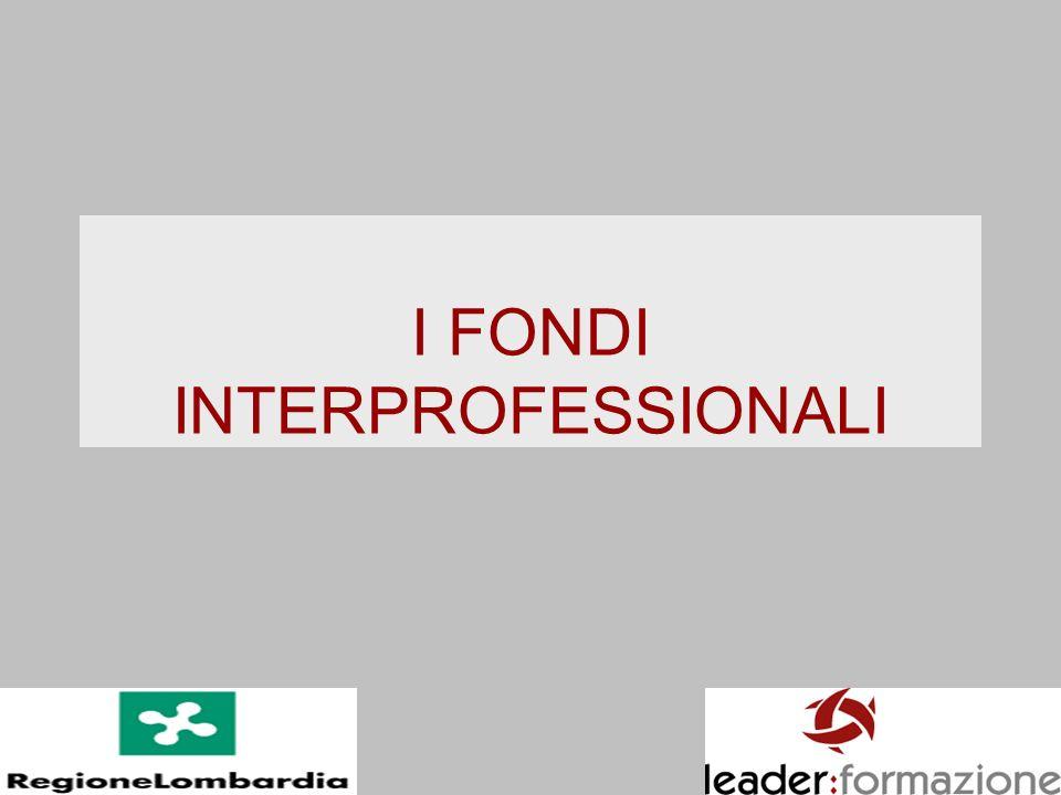 I FONDI INTERPROFESSIONALI