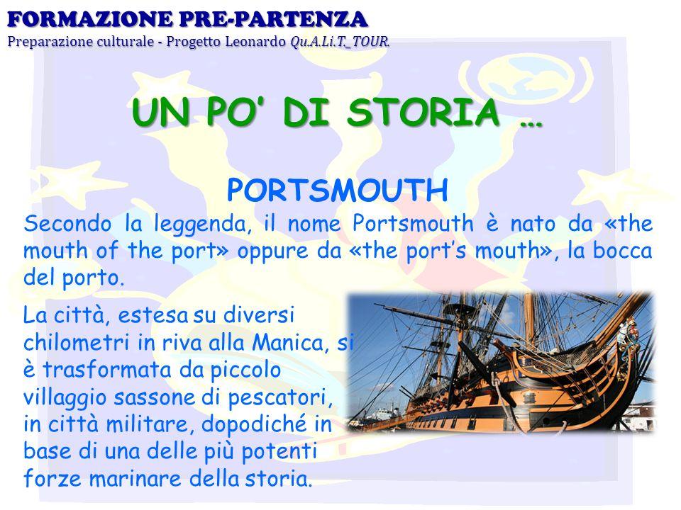 UN PO' DI STORIA … PORTSMOUTH FORMAZIONE PRE-PARTENZA