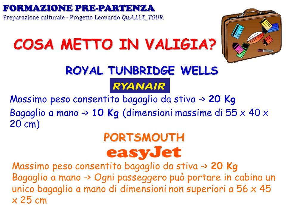 COSA METTO IN VALIGIA ROYAL TUNBRIDGE WELLS PORTSMOUTH
