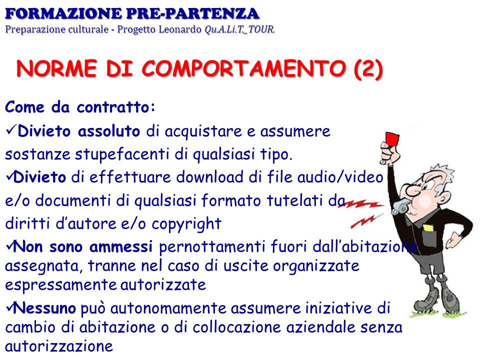 NORME DI COMPORTAMENTO (2)