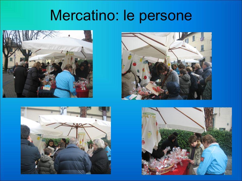 Mercatino: le persone