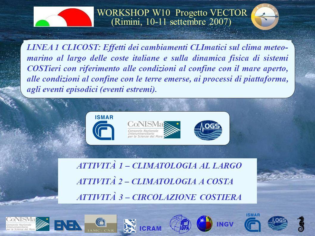 ATTIVITÀ 1 – CLIMATOLOGIA AL LARGO ATTIVITÀ 2 – CLIMATOLOGIA A COSTA