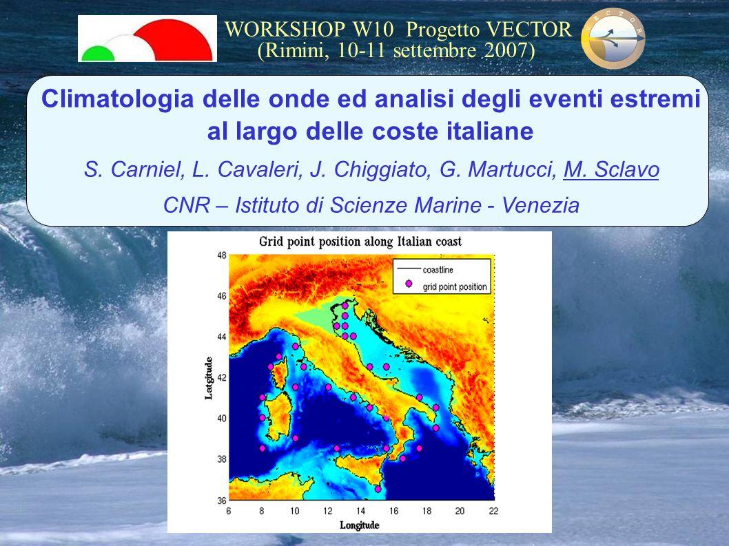 Climatologia delle onde ed analisi degli eventi estremi