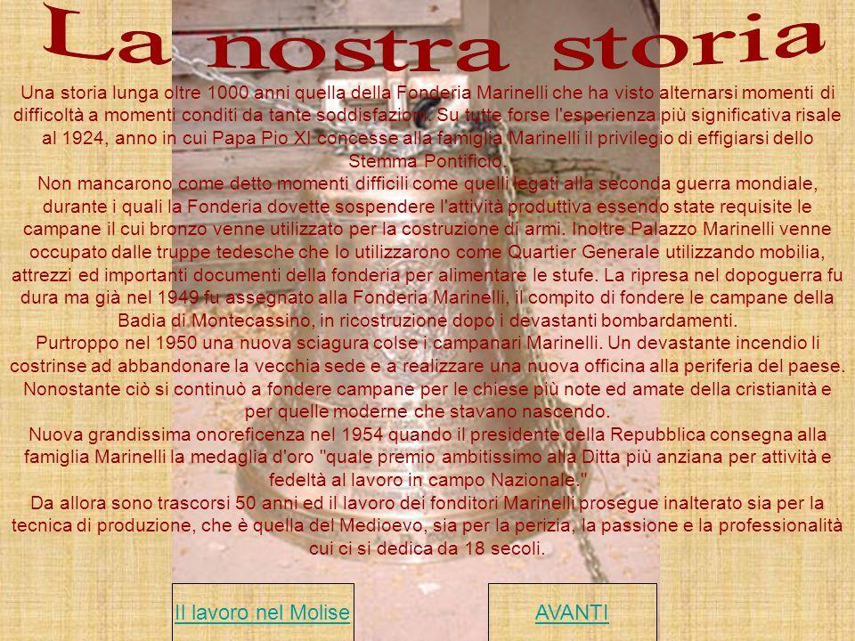 La nostra storia Il lavoro nel Molise AVANTI