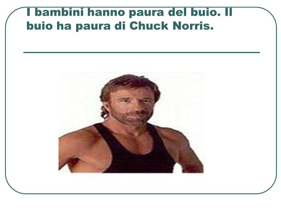 I bambini hanno paura del buio. Il buio ha paura di Chuck Norris.