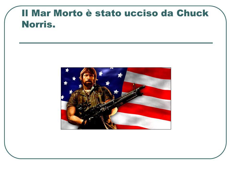 Il Mar Morto è stato ucciso da Chuck Norris.