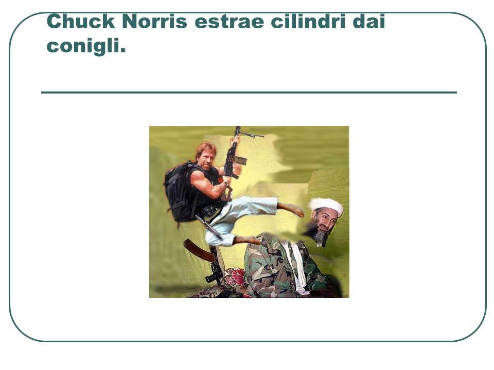 Chuck Norris estrae cilindri dai conigli.