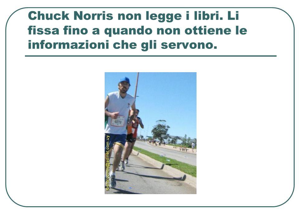 Chuck Norris non legge i libri