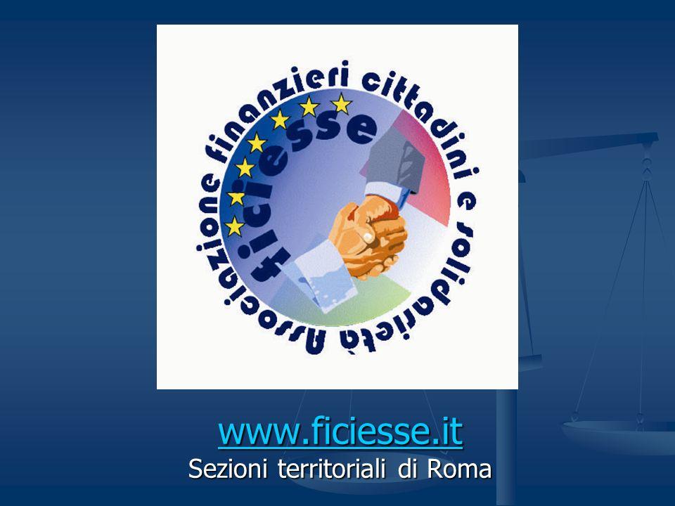 www.ficiesse.it Sezioni territoriali di Roma