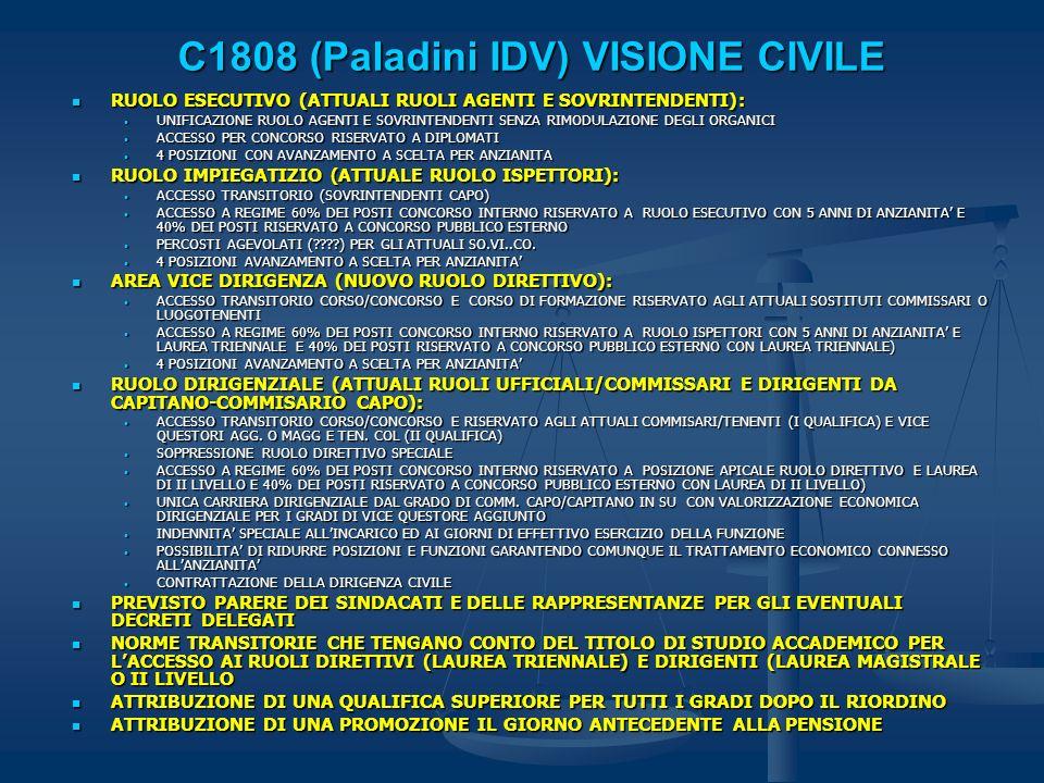 C1808 (Paladini IDV) VISIONE CIVILE
