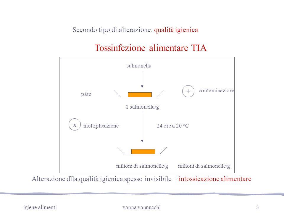 Tossinfezione alimentare TIA