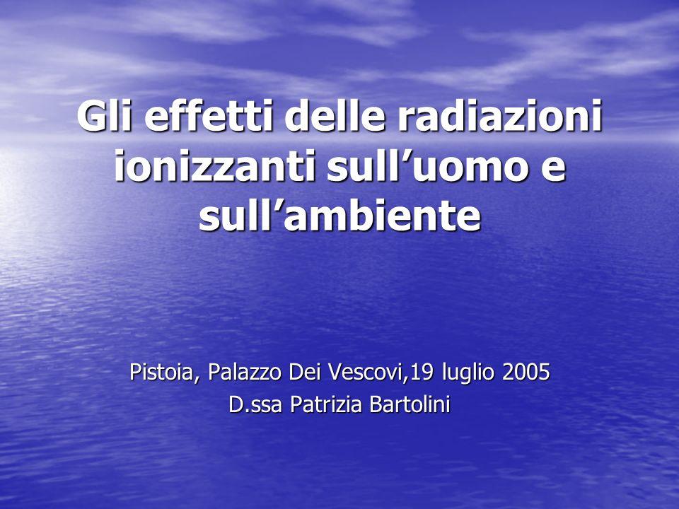 Gli effetti delle radiazioni ionizzanti sull'uomo e sull'ambiente