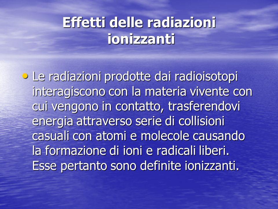 Effetti delle radiazioni ionizzanti